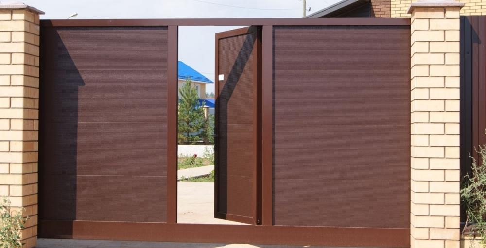 Ворота откатные с калиткой автоматические комплект для откатных ворот купить подольск климовск щербинка