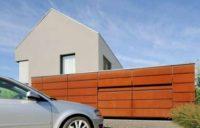 Подъемно секционные гаражные ворота из древесины ALR F42